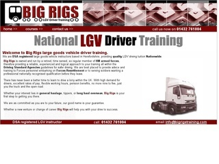 Big Rigs LGV Driver Training